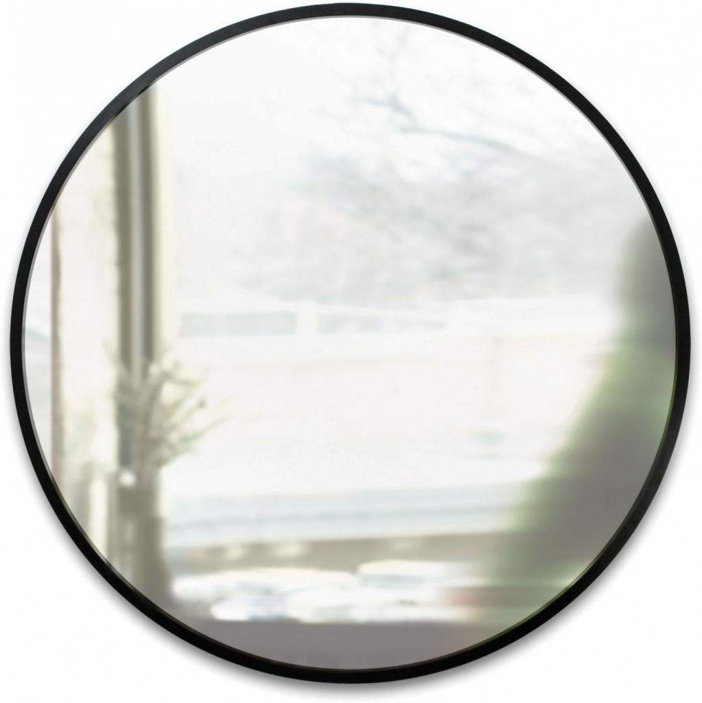 Wandspiegel hub rund schwarz umbra kaufen wohn und lifestylewebshop - Spiegel rund schwarz ...