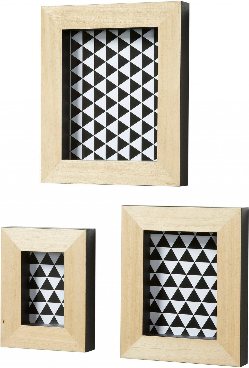 bilderrahmen 3er set archer schwarz la forma kaufen wohn und. Black Bedroom Furniture Sets. Home Design Ideas