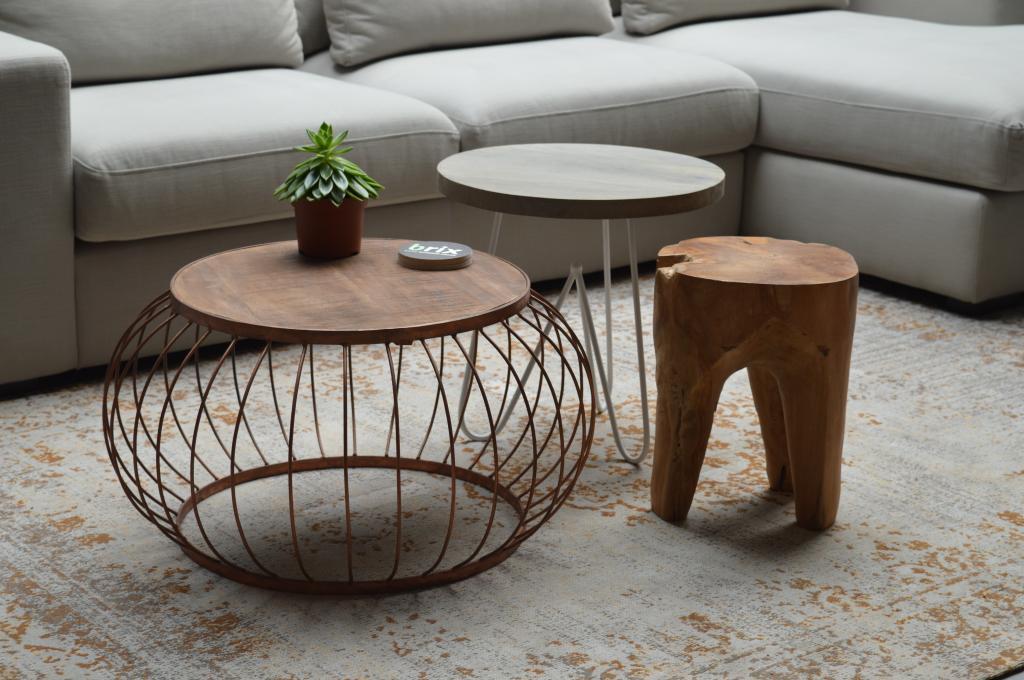 beistelltisch bruno holz rund brix kaufen wohn und lifestylewebshop. Black Bedroom Furniture Sets. Home Design Ideas