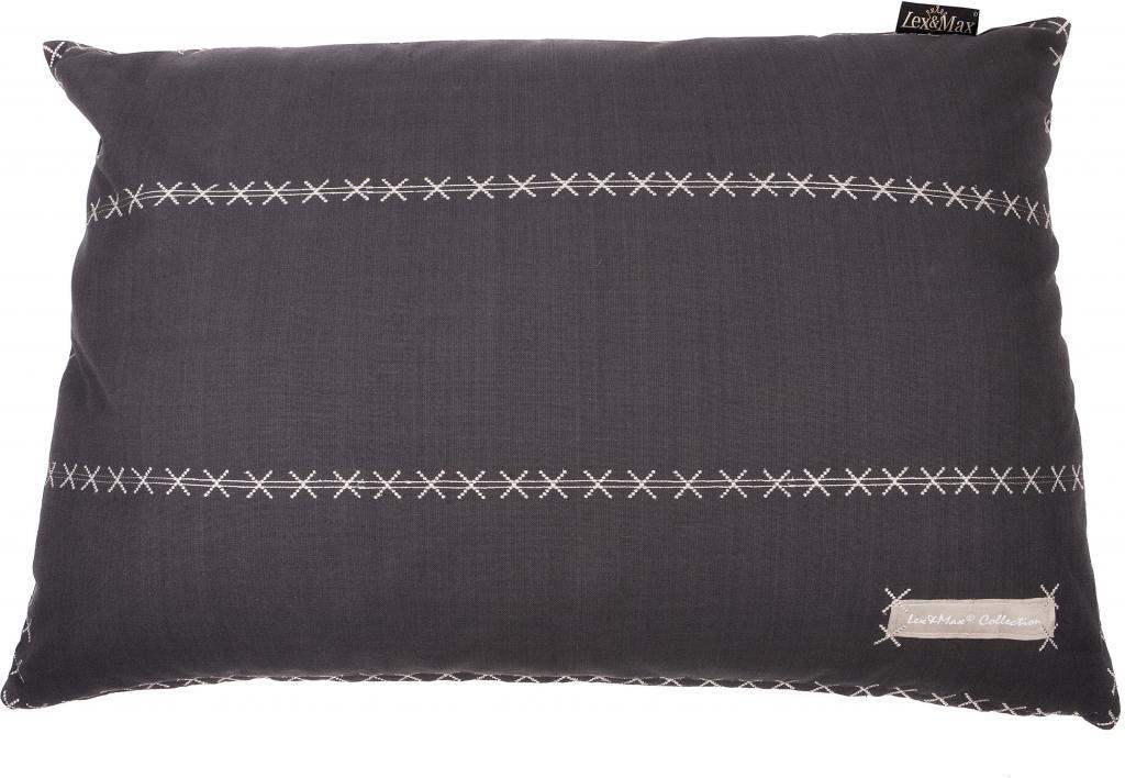 kissenbezug triple 100 x 70 cm anthrazit lex max kaufen wohn und. Black Bedroom Furniture Sets. Home Design Ideas