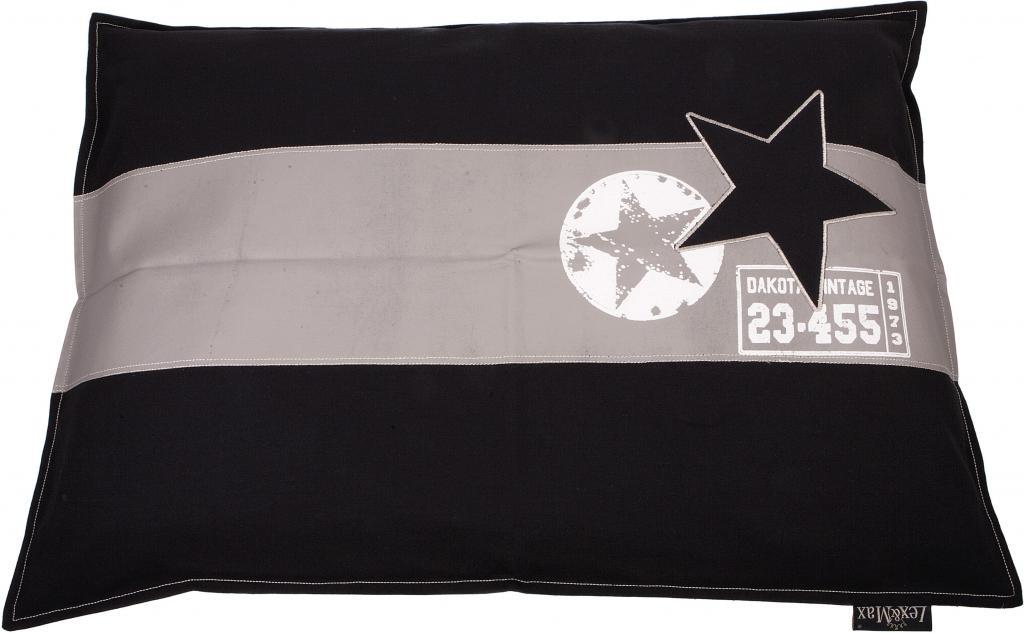 kissenbezug band ster 100 x 70 cm schwarz lex max kaufen wohn und. Black Bedroom Furniture Sets. Home Design Ideas