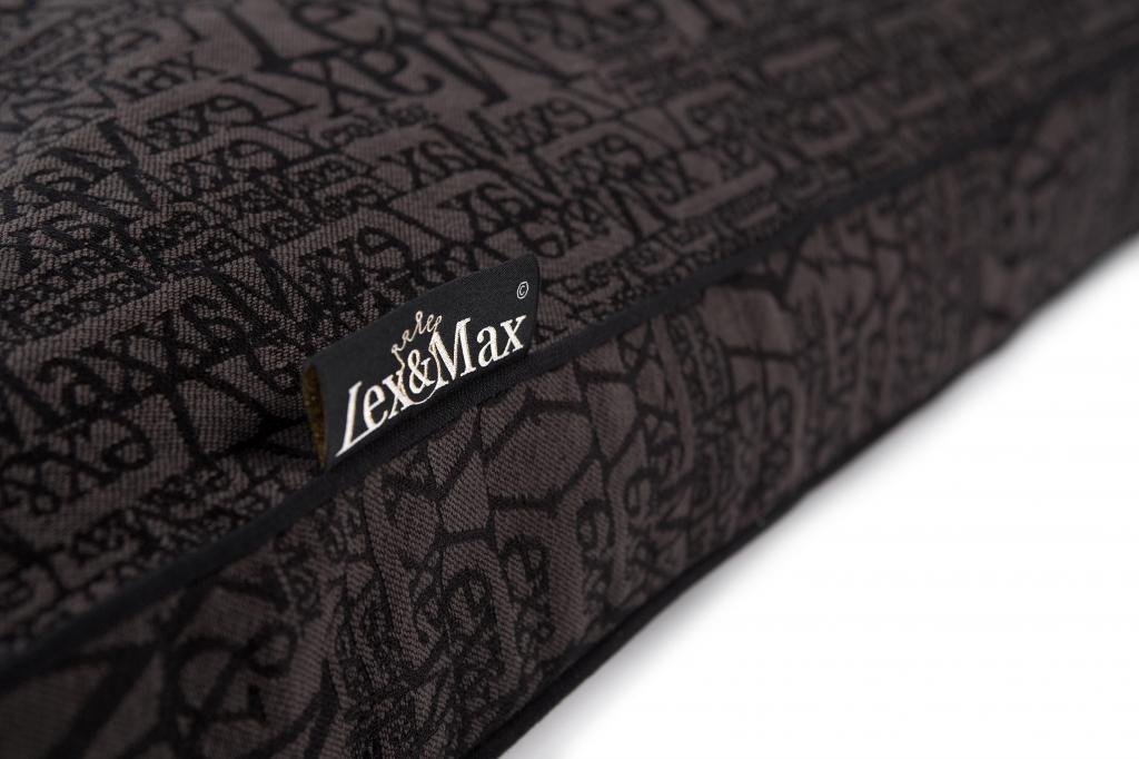 kissenbezug chic 100 x 70 cm anthrazit lex max kaufen wohn und. Black Bedroom Furniture Sets. Home Design Ideas