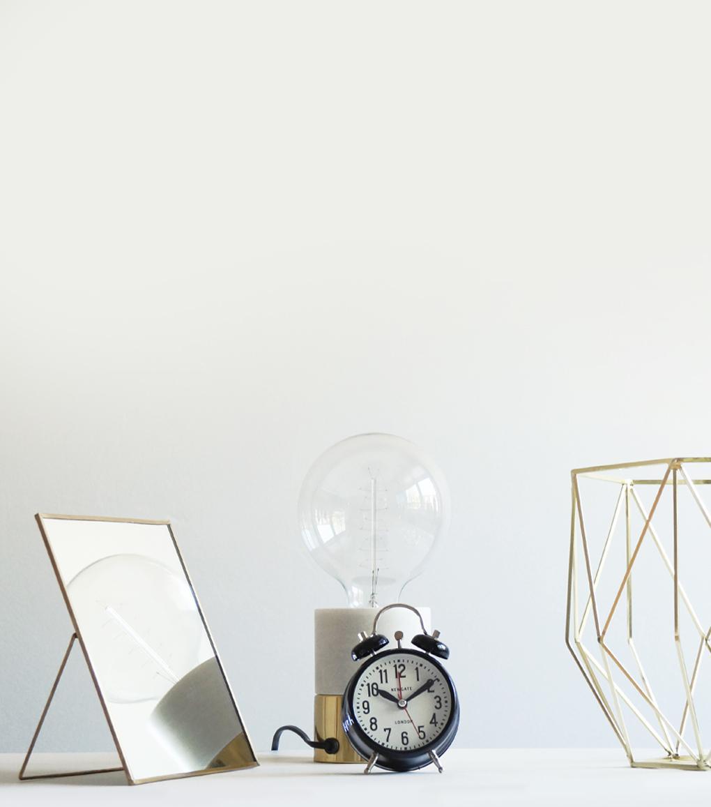tischspiegel mit st nder messing glas 25x25cm hubsch kaufen wohn. Black Bedroom Furniture Sets. Home Design Ideas