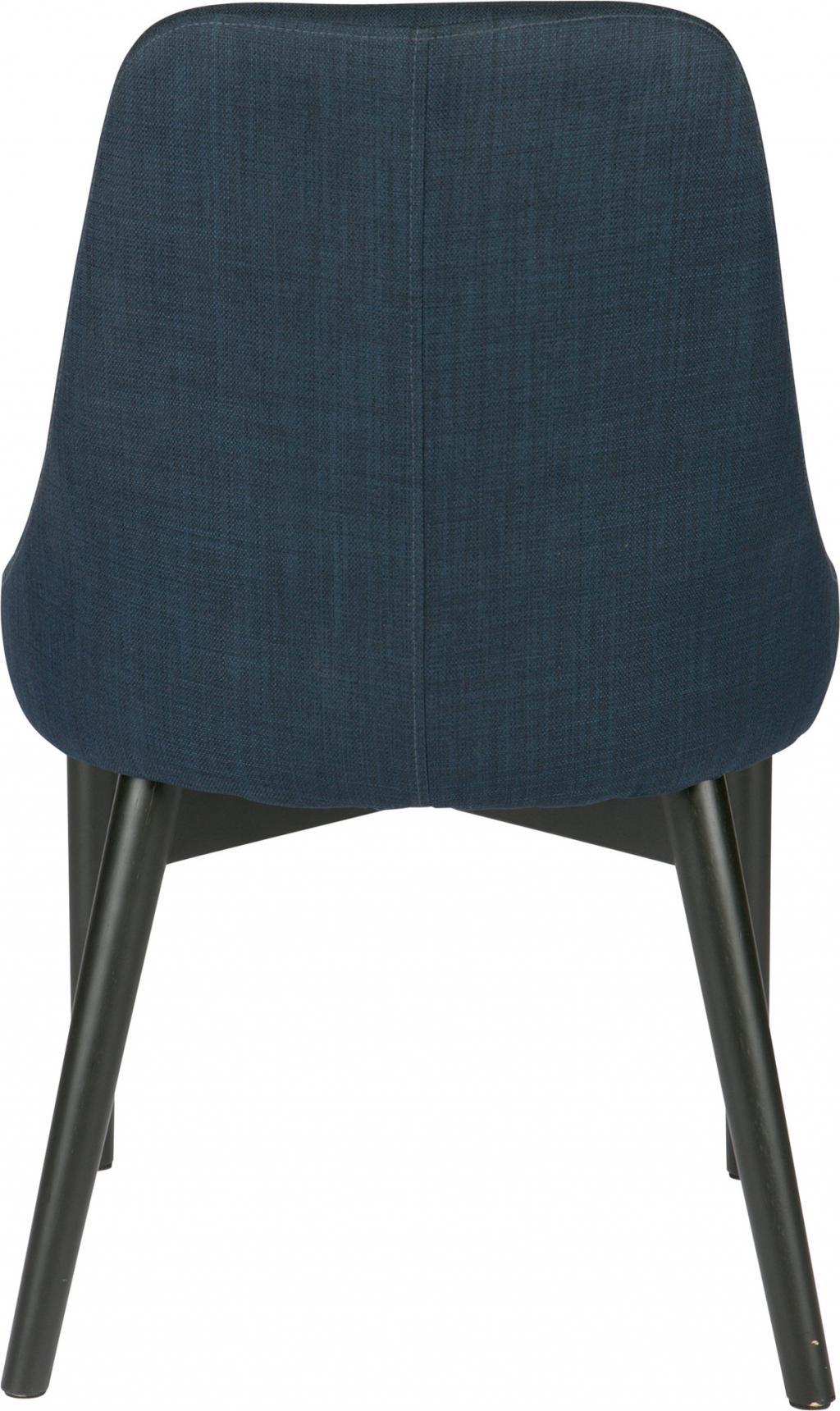 Esszimmerstuhl koen retro stoel blau woood kaufen - Retro esszimmerstuhl ...