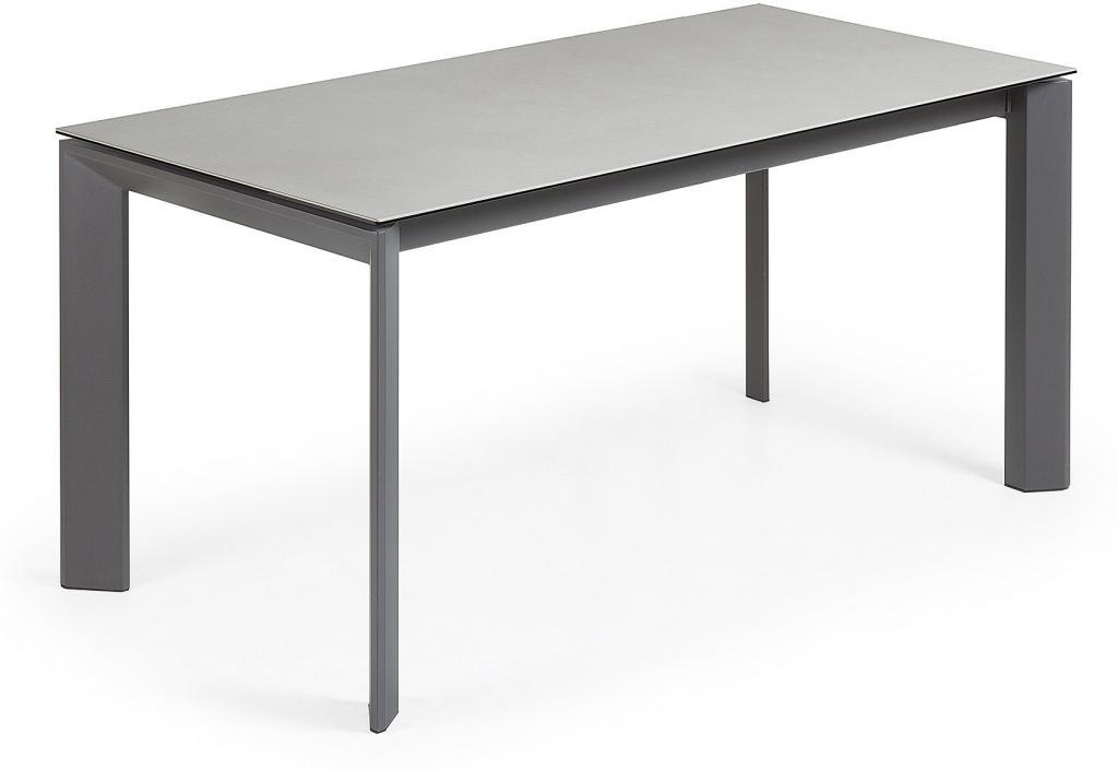 eettafel atta verlengbaar 160 tot 220 cm keramiek hydro plomo antraciet la forma. Black Bedroom Furniture Sets. Home Design Ideas