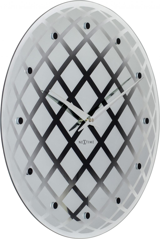 wanduhr pendula rund 43 glas spiegel silber nextime kaufen wohn. Black Bedroom Furniture Sets. Home Design Ideas