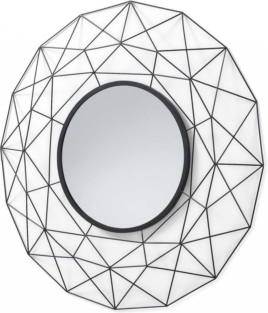 spiegel habita rund metall schwarz la forma kaufen wohn und. Black Bedroom Furniture Sets. Home Design Ideas
