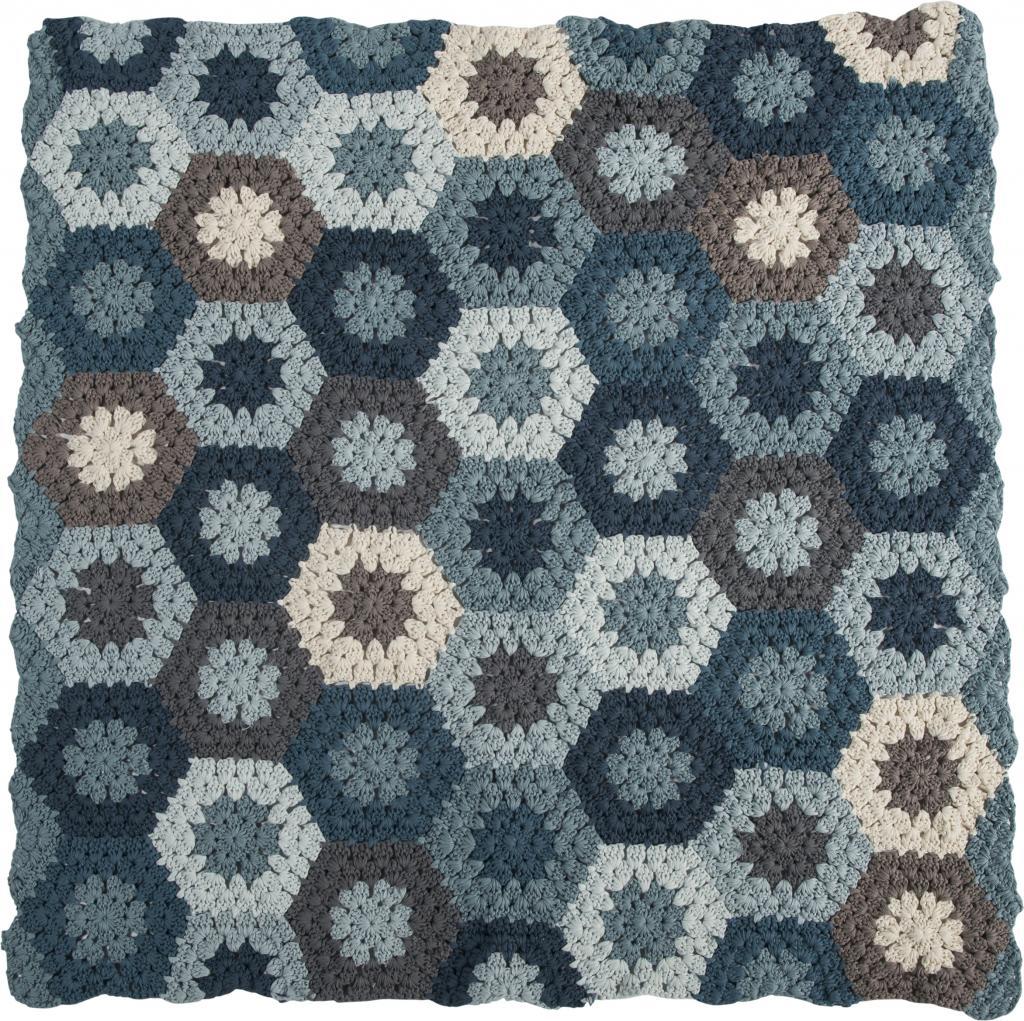 geh kelte babydecke blau 85x85 cm 100 baumwolle sebra kaufen wohn. Black Bedroom Furniture Sets. Home Design Ideas