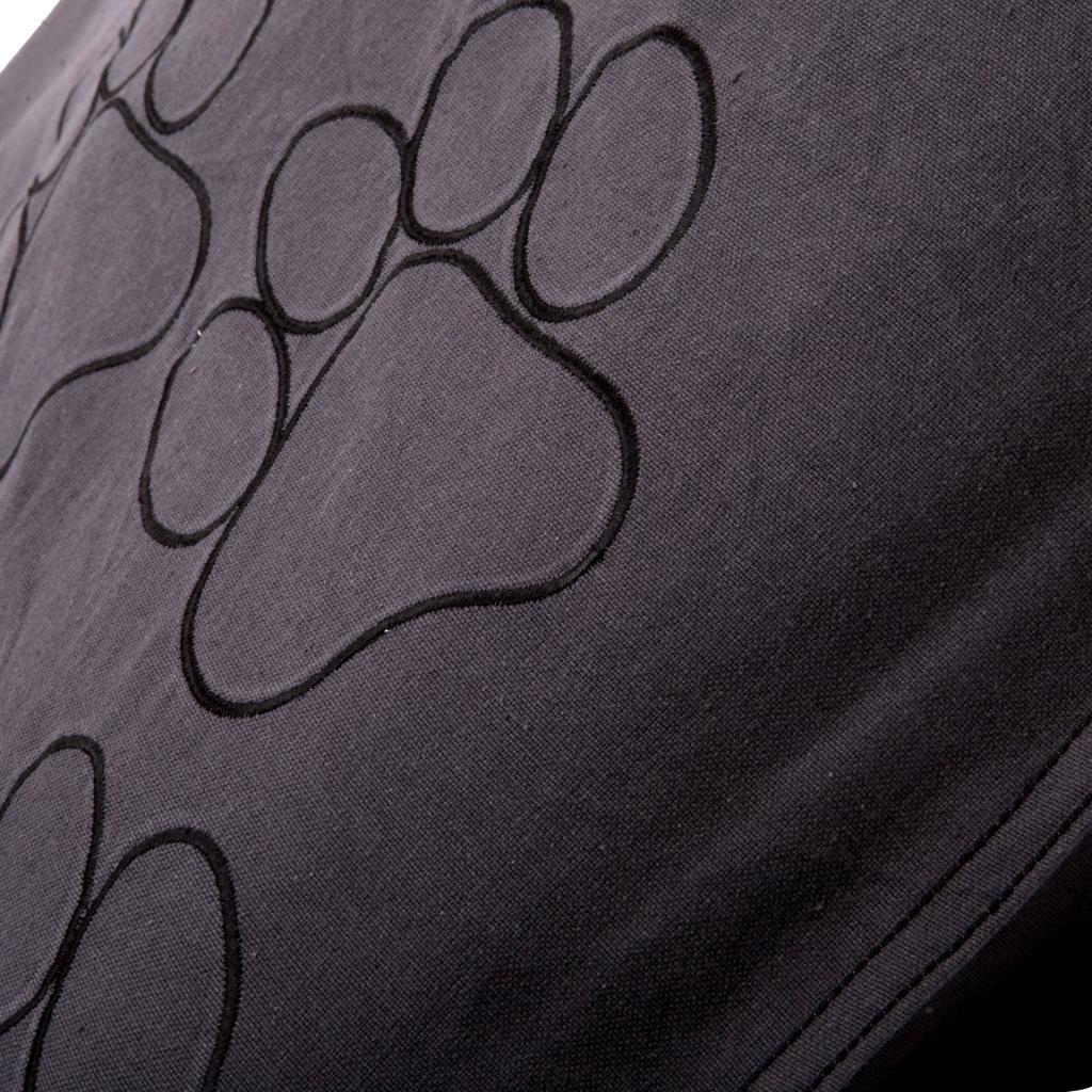 hundekissen happy feet 100 x 70 cm anthrazit schwarz lex max kaufen. Black Bedroom Furniture Sets. Home Design Ideas
