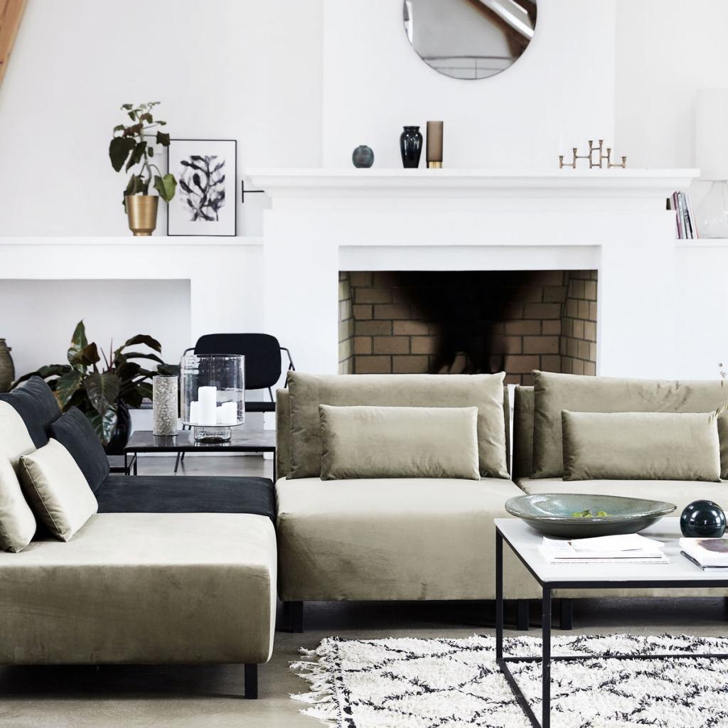 couch box mit 2 kissen sand 90x90x75 house doctor kaufen wohn und. Black Bedroom Furniture Sets. Home Design Ideas
