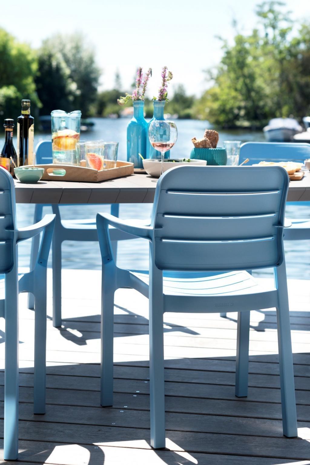 gartenstuhl tisara blau allibert kaufen wohn und lifestylewebshop. Black Bedroom Furniture Sets. Home Design Ideas