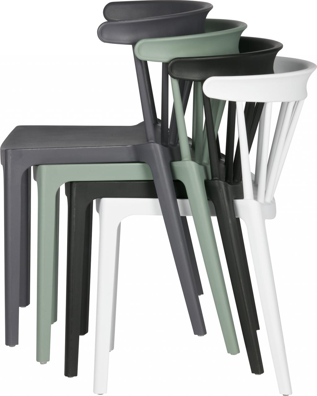 gartenstuhl bliss wei kunststoff stapelbar woood kaufen wohn und. Black Bedroom Furniture Sets. Home Design Ideas