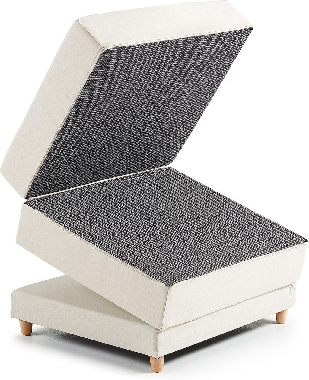 hocker bett kos faltbar grau la forma kaufen wohn und lifestylewebshop. Black Bedroom Furniture Sets. Home Design Ideas