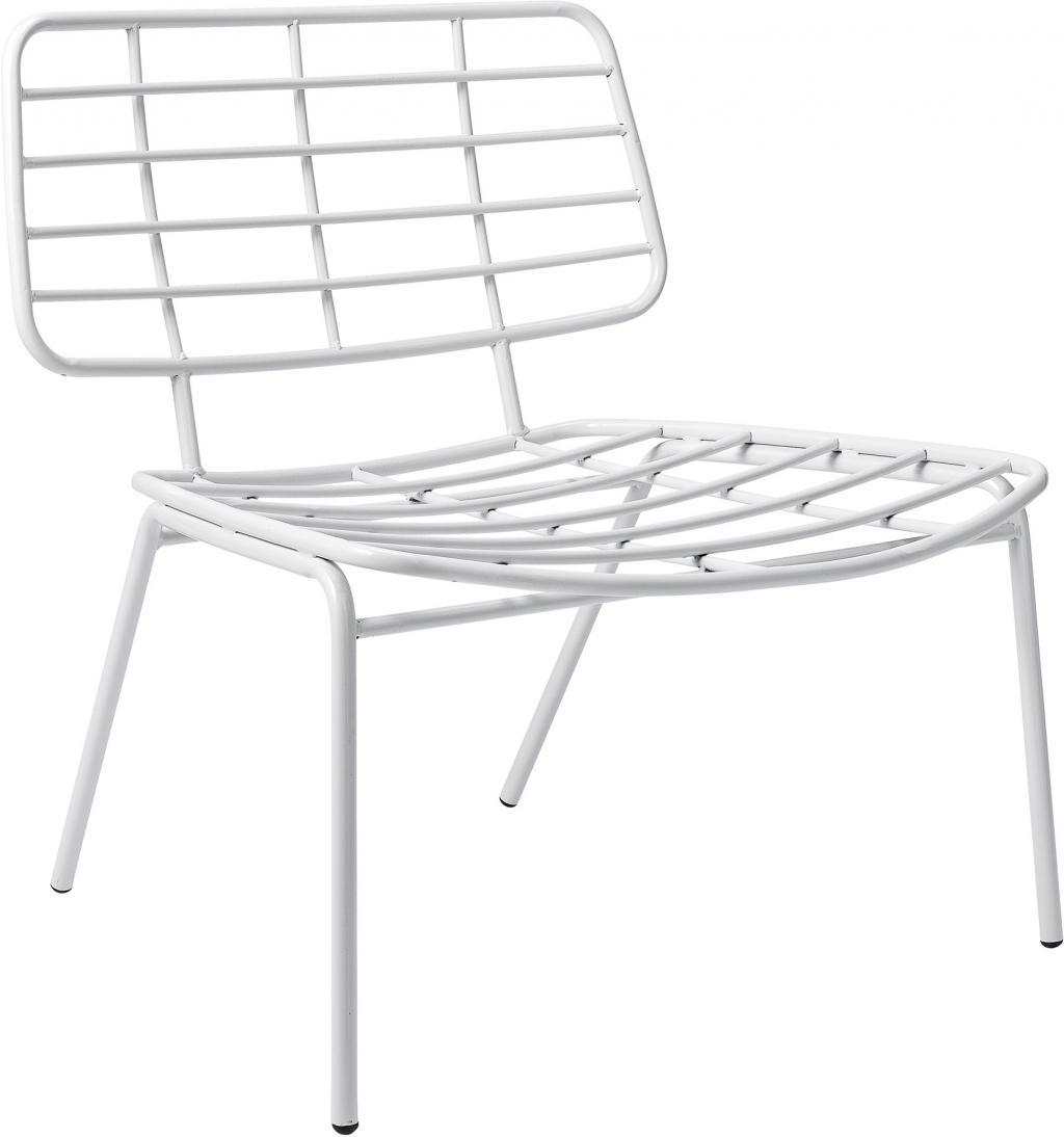 sessel metall wei l70xh70xb60 cm bloomingville kaufen wohn und. Black Bedroom Furniture Sets. Home Design Ideas