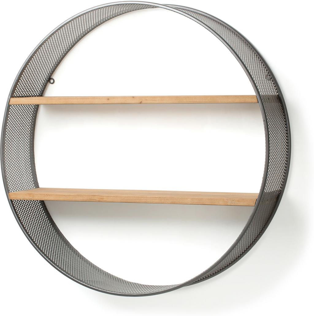 wandregal celinni rund metall grau la forma kaufen wohn und. Black Bedroom Furniture Sets. Home Design Ideas