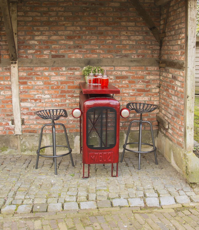 Tisch traktor rot esschert design kaufen for Design tisch rot