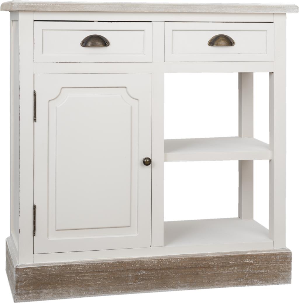 schrank wei holz 82 35 82 cm clayre eef kaufen wohn und. Black Bedroom Furniture Sets. Home Design Ideas