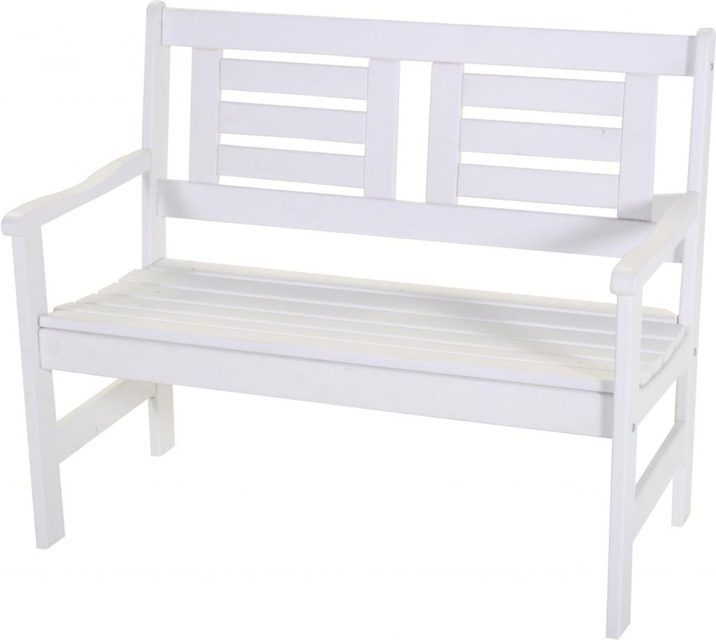 gartenbank boulogne wei 2 sitzer kiefer fsc sens. Black Bedroom Furniture Sets. Home Design Ideas