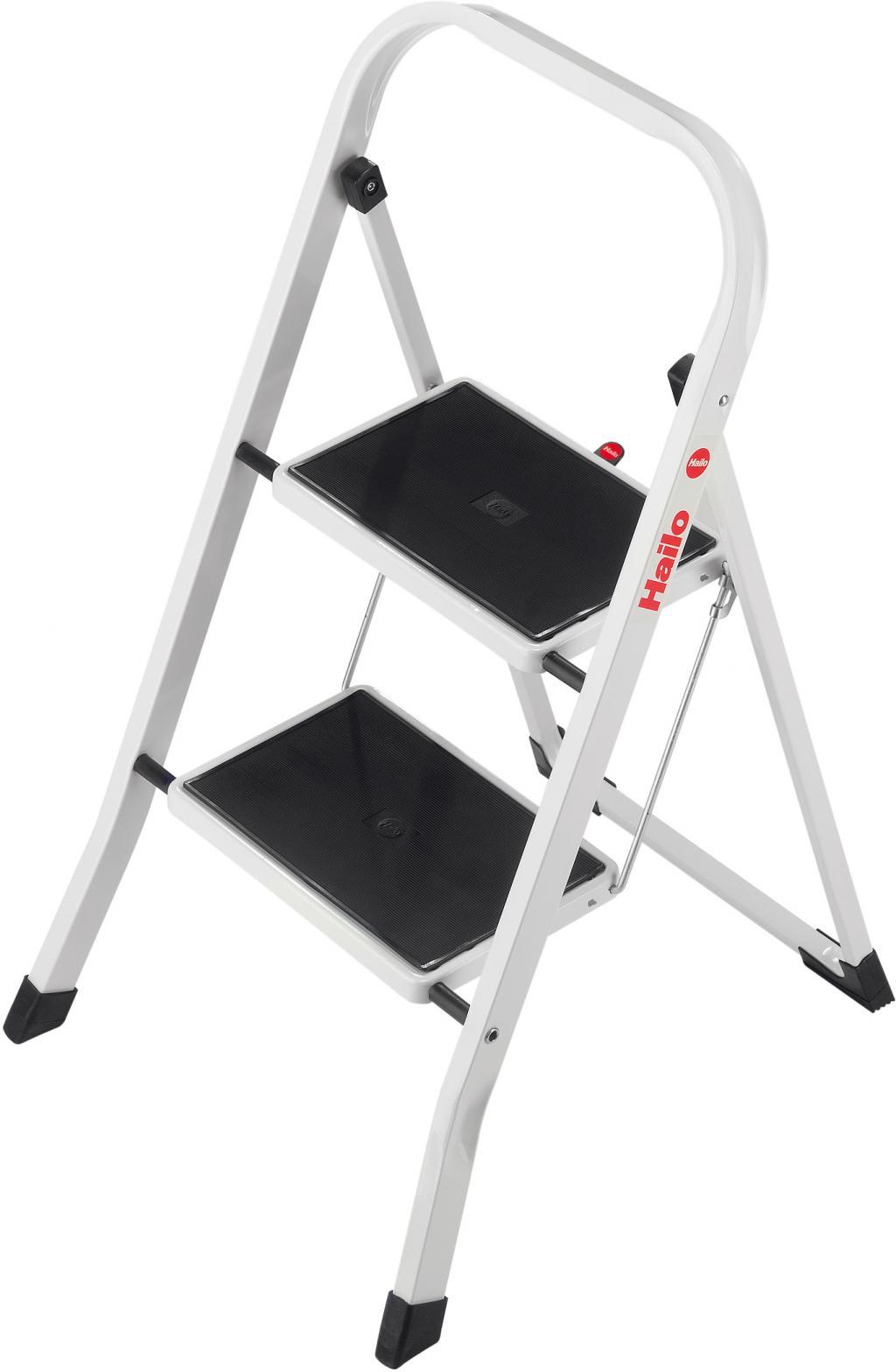 trittleiter k20 2 stufen metall faltbar hailo kaufen wohn und. Black Bedroom Furniture Sets. Home Design Ideas