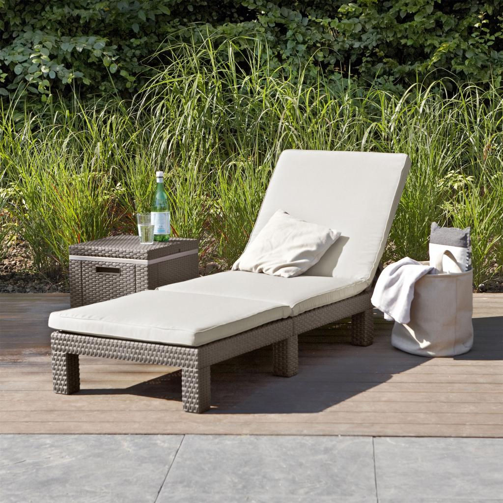 sunlounger daytona cappuccino allibert. Black Bedroom Furniture Sets. Home Design Ideas