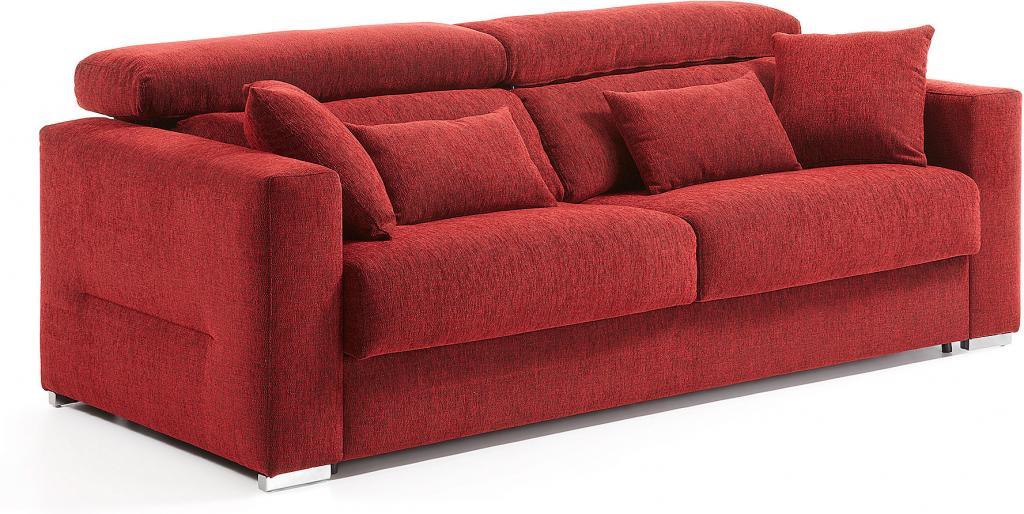 bedbank queen rood polyurethaan matras van 160 x 196 cm la forma. Black Bedroom Furniture Sets. Home Design Ideas