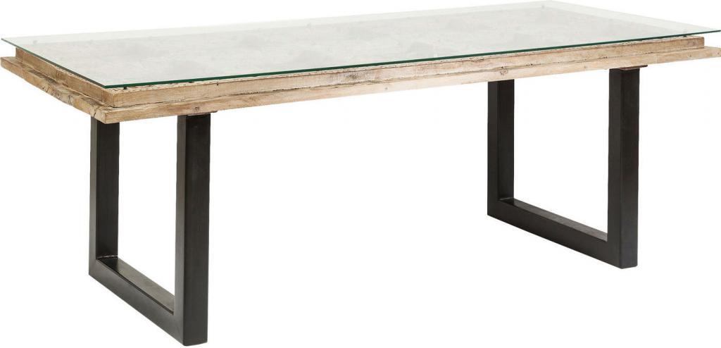 esstisch kalif mangoholz glas metall kare design kaufen wohn und. Black Bedroom Furniture Sets. Home Design Ideas