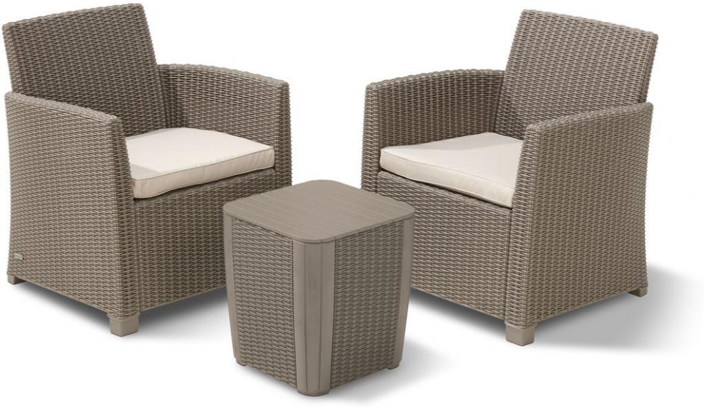 balkonset corona 3 teilig cappuccino allibert kaufen wohn und. Black Bedroom Furniture Sets. Home Design Ideas