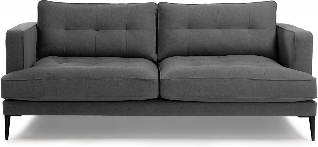 couch vinny 3 sitzer dunkelgrau stoff la forma kaufen wohn und. Black Bedroom Furniture Sets. Home Design Ideas