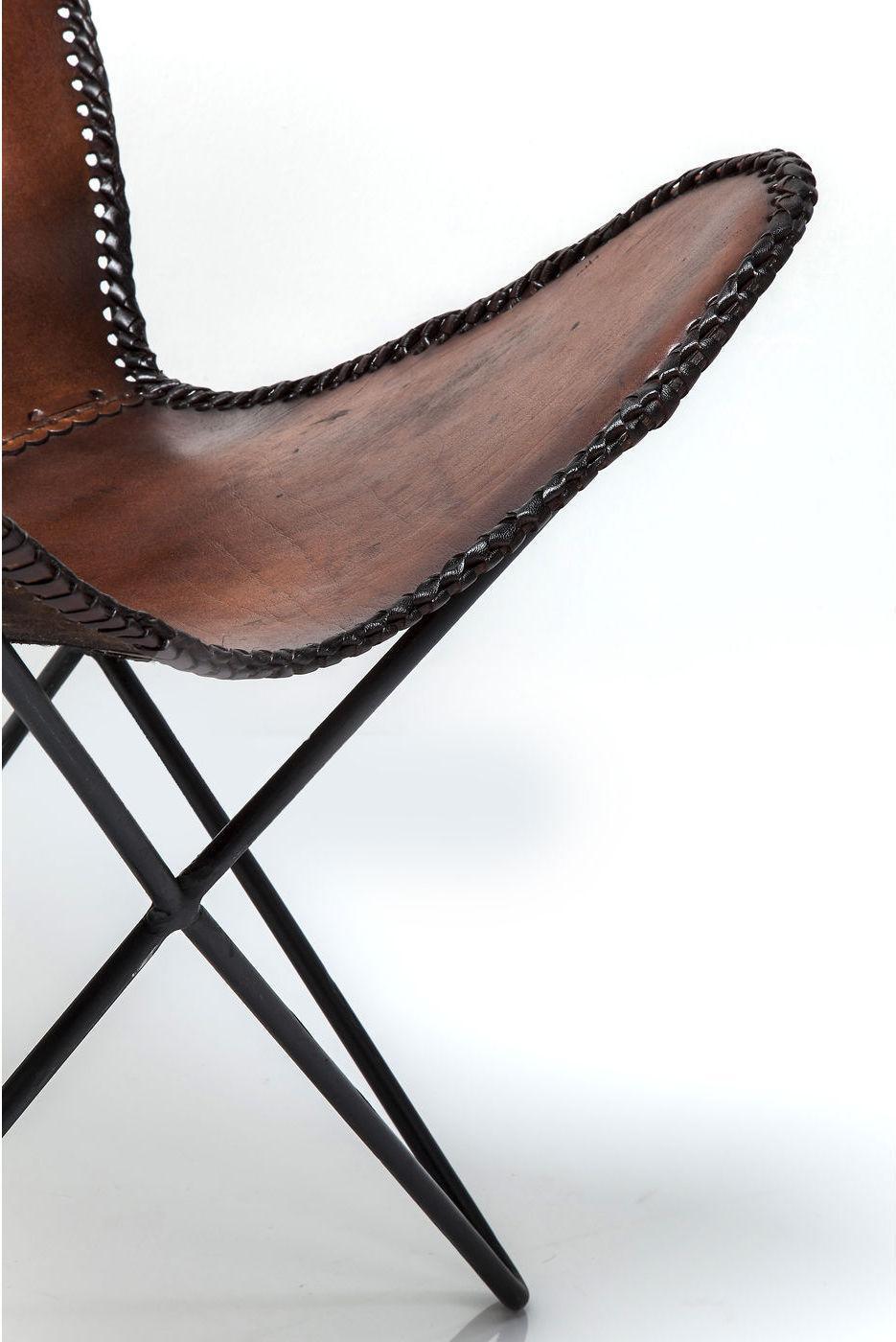 sessel butterfly brown eco kare design kaufen wohn und lifestylewebshop. Black Bedroom Furniture Sets. Home Design Ideas