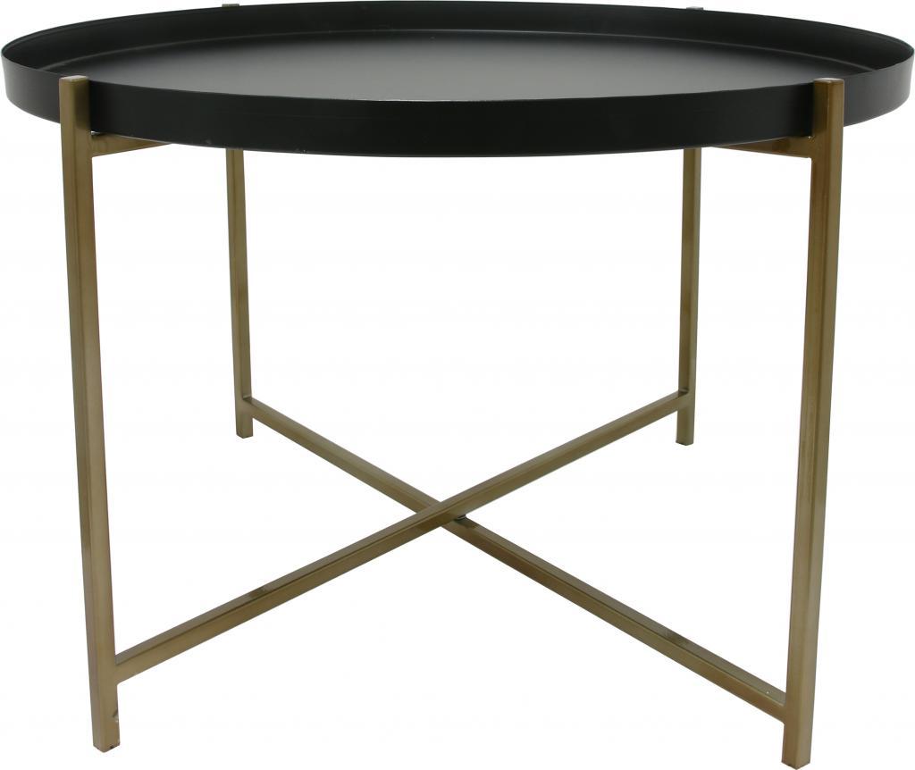 beistelltisch messing schwarz large rund 63x40 cm hk living kaufen. Black Bedroom Furniture Sets. Home Design Ideas