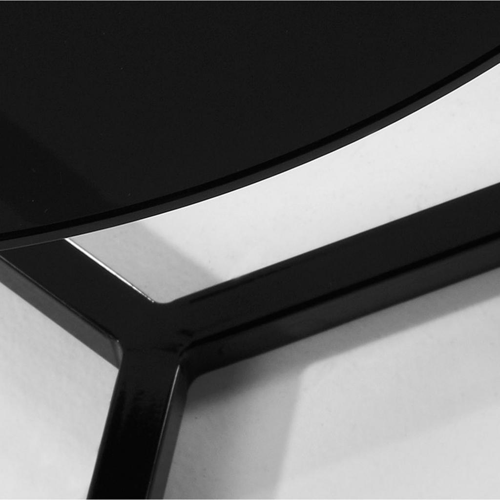 bijzettafel raeam zwart glas metaal 50 x 50 la forma sale. Black Bedroom Furniture Sets. Home Design Ideas