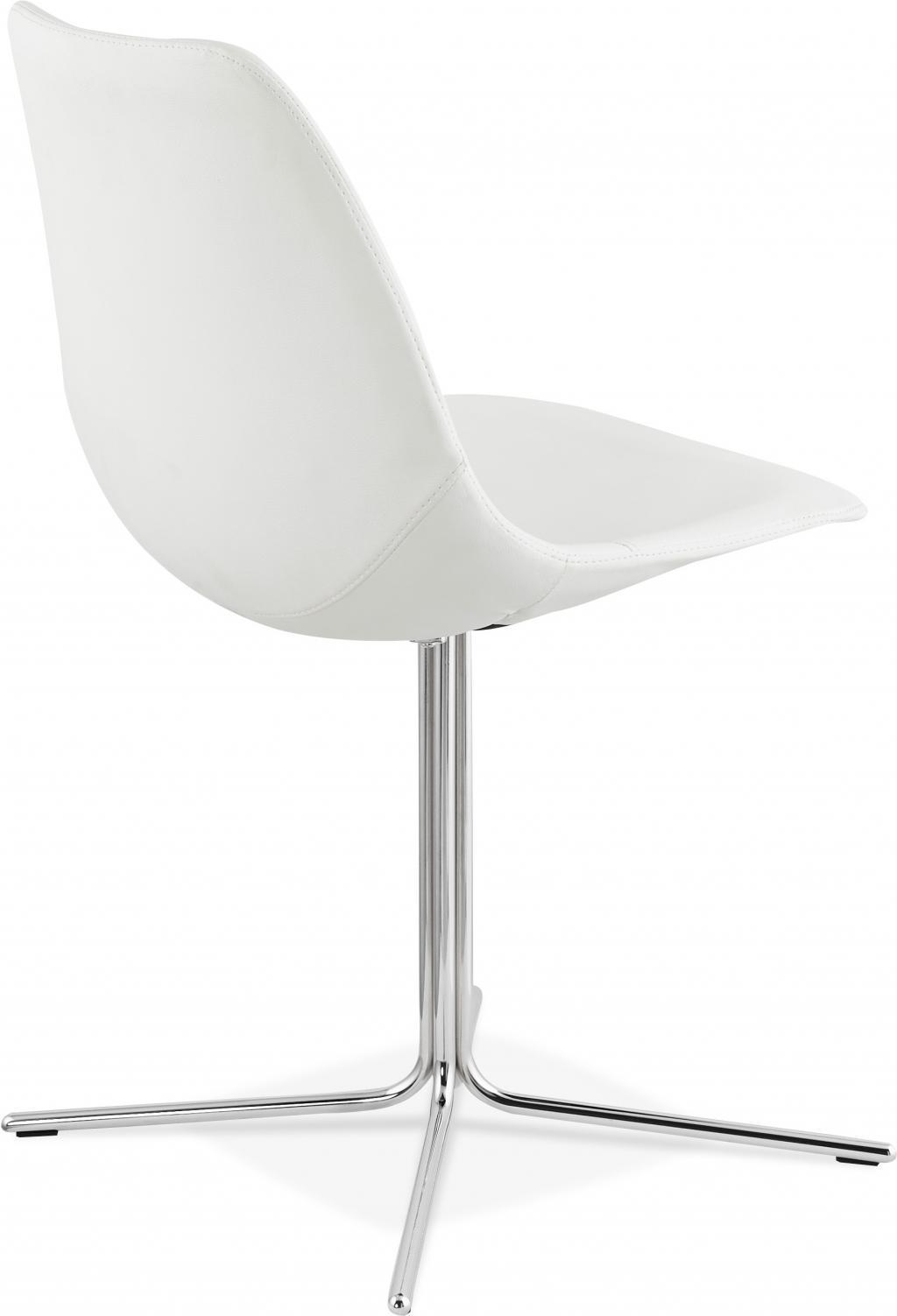 stuhl bedford wei chrom leder metall kokoon design kaufen wohn. Black Bedroom Furniture Sets. Home Design Ideas