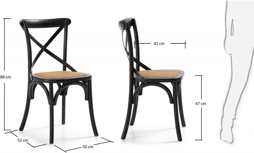 stuhl alsie schwarz holz la forma kaufen wohn und lifestylewebshop. Black Bedroom Furniture Sets. Home Design Ideas