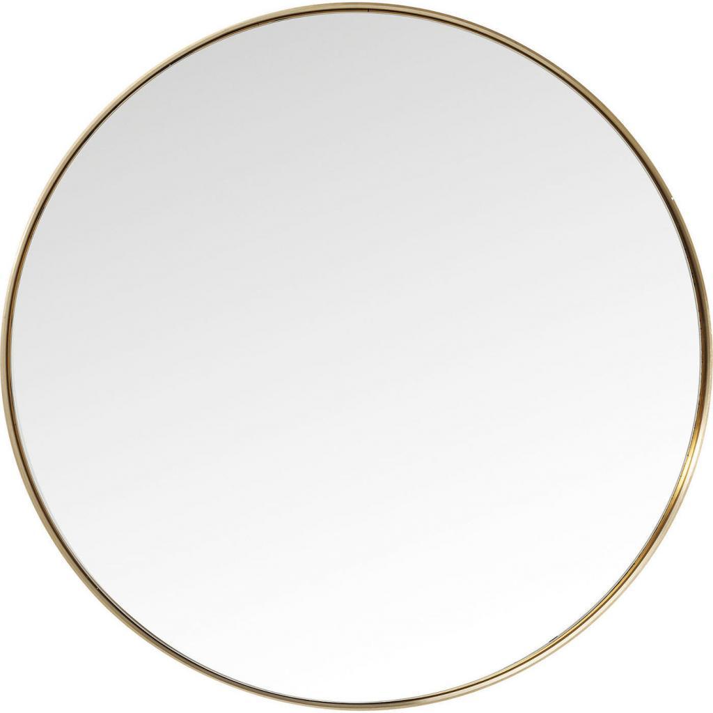 spiegel curver messing rund 100 x 100 cm kare design kaufen wohn. Black Bedroom Furniture Sets. Home Design Ideas