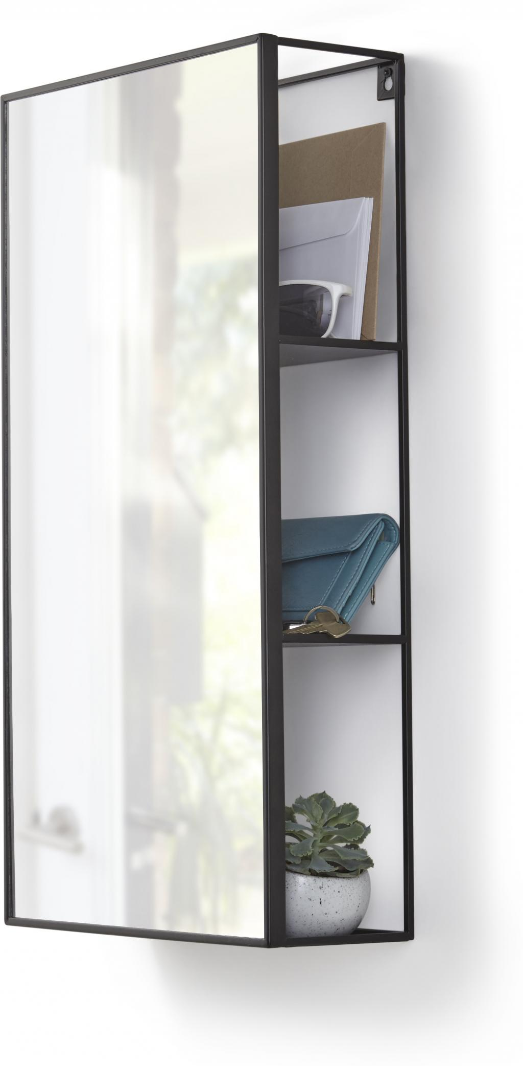 Badezimmerschrank cubiko mit spiegel metall for Badezimmerschrank spiegel