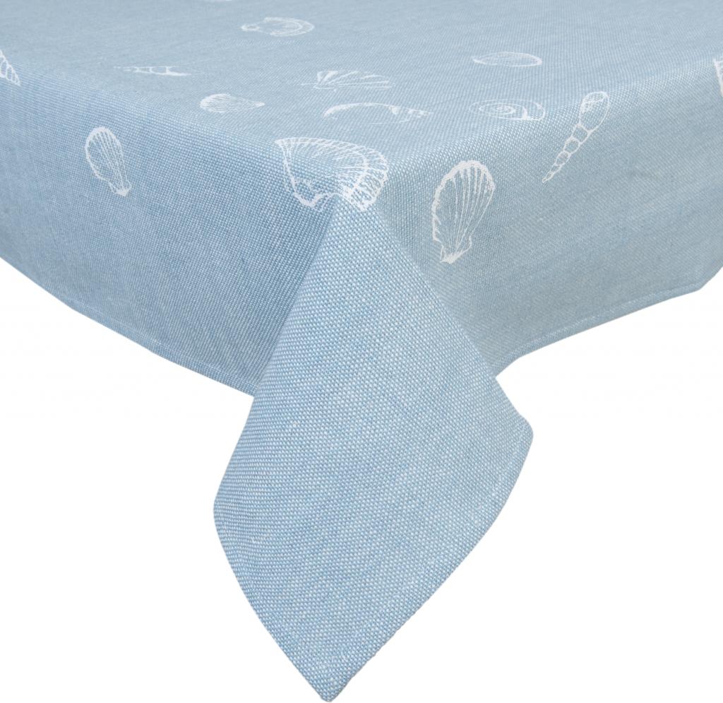 tischdecke blau baumwolle 150 x 250 cm clayre eef kaufen wohn. Black Bedroom Furniture Sets. Home Design Ideas