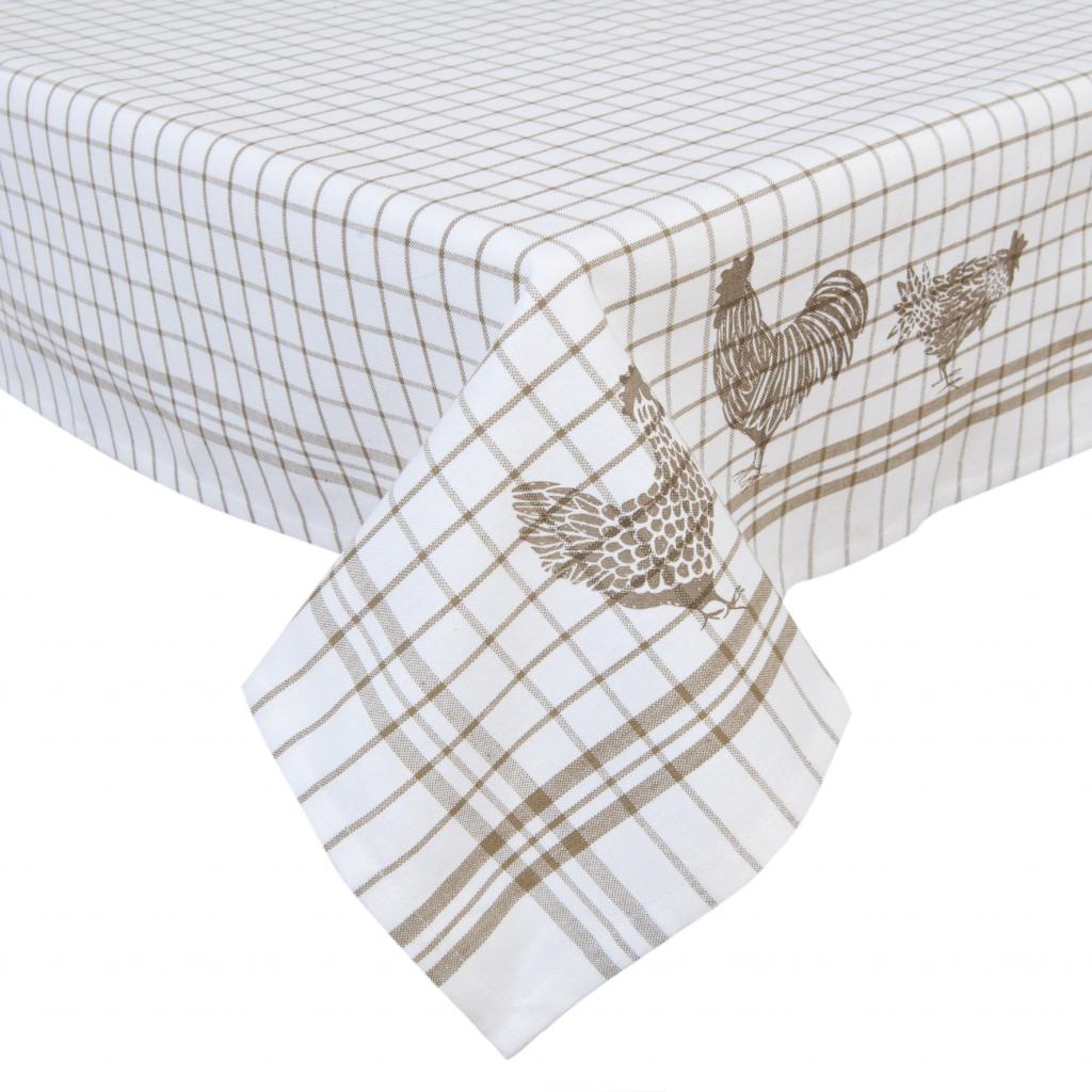 tischdecke h hner natur baumwolle 150 x 250 cm clayre eef kaufen. Black Bedroom Furniture Sets. Home Design Ideas