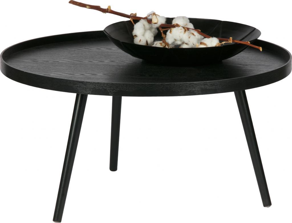beistelltisch mesa xl schwarz holz 78 x 39 cm woood kaufen wohn. Black Bedroom Furniture Sets. Home Design Ideas