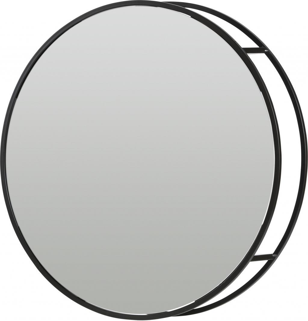 Spiegelschrank olivia rund 60cm metall woood for Spiegelschrank rund