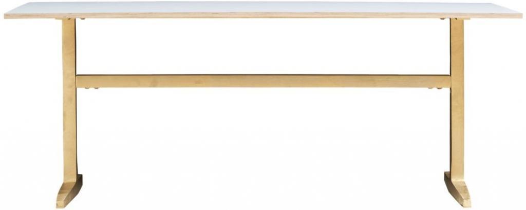 esstisch rechteck 200 x 80 cm messing mdf house doctor kaufen. Black Bedroom Furniture Sets. Home Design Ideas