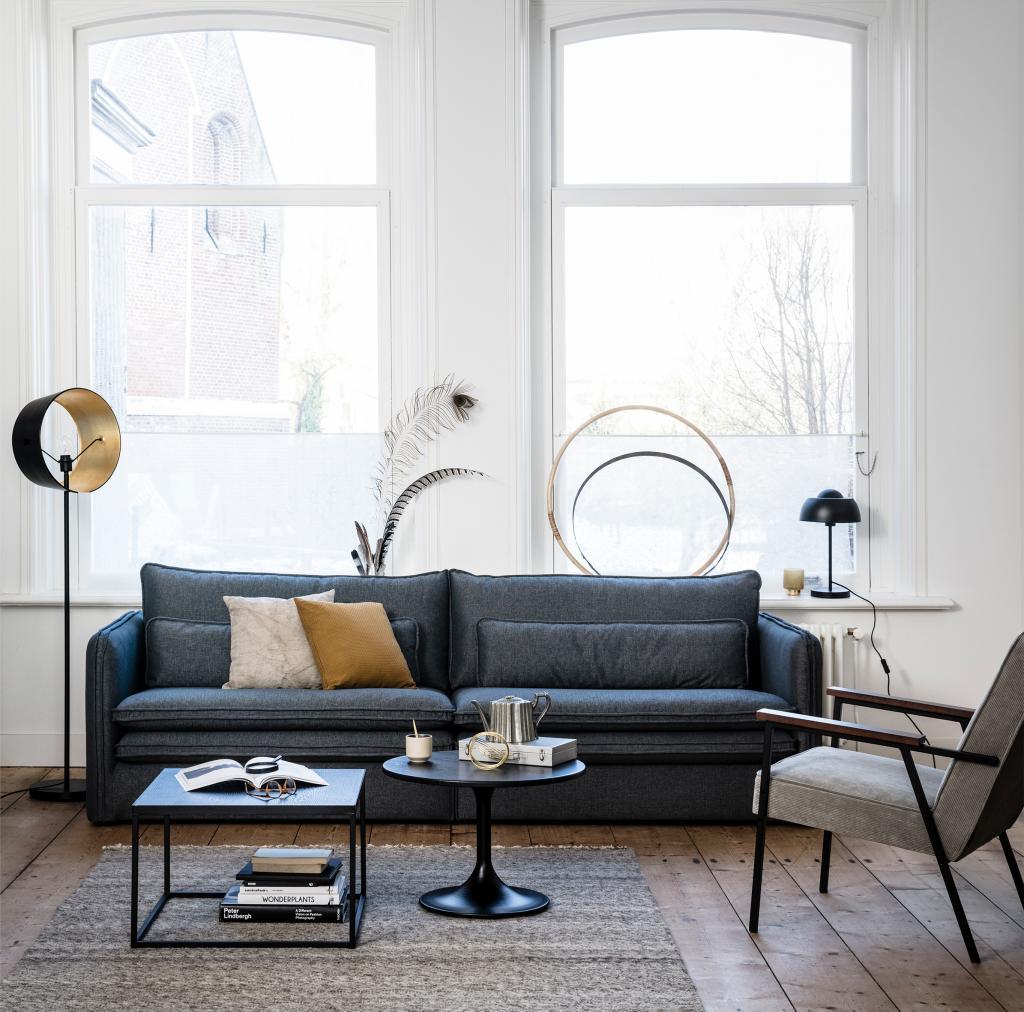 couchtisch jazz rund eiche metall woood kaufen wohn und. Black Bedroom Furniture Sets. Home Design Ideas