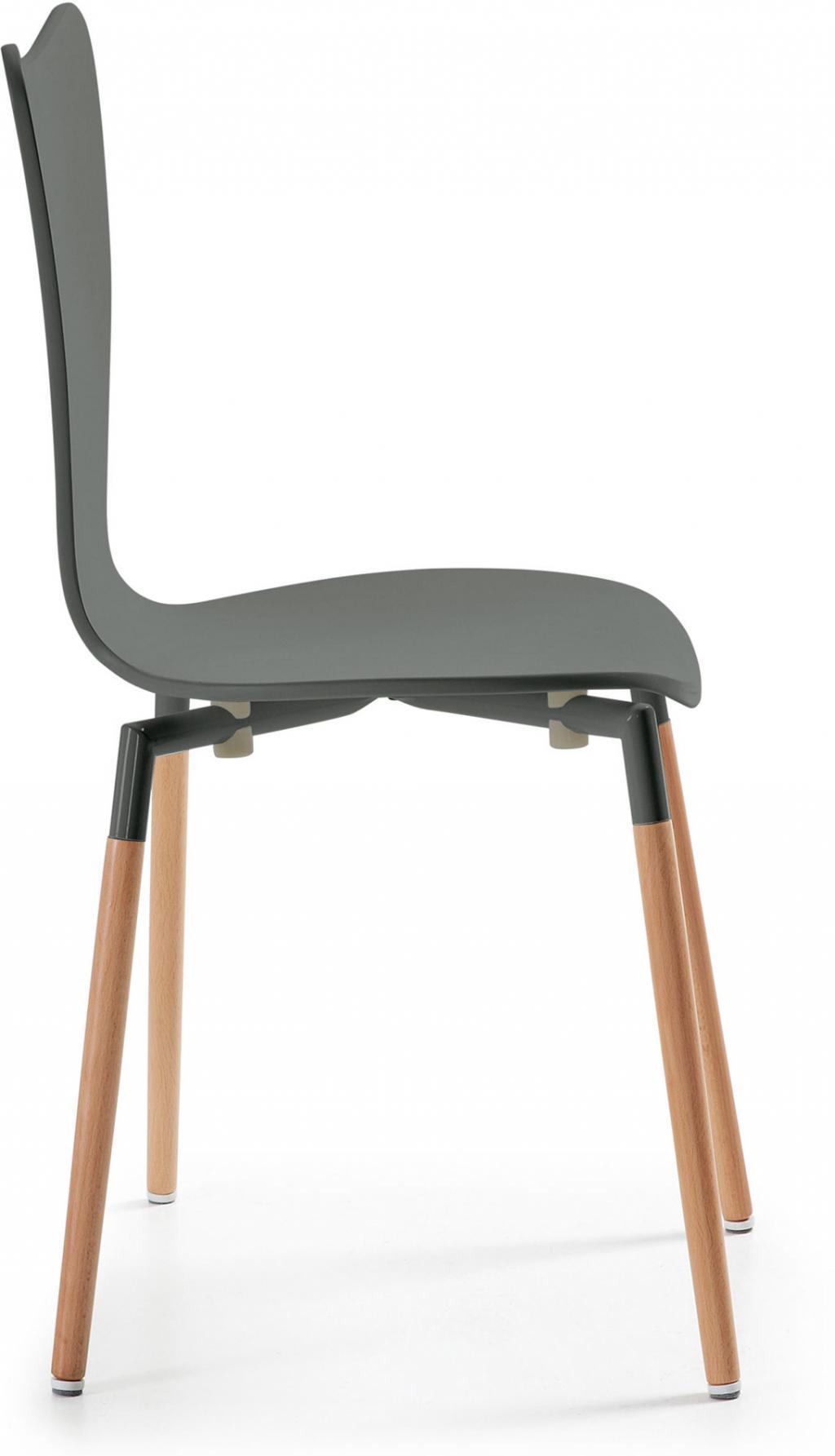 stuhl wing grau holz la forma kaufen wohn und lifestylewebshop. Black Bedroom Furniture Sets. Home Design Ideas