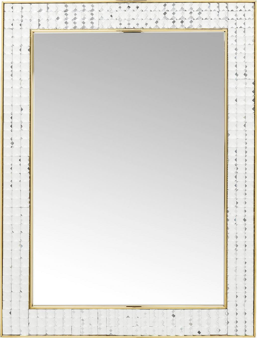 spiegel crystals goud 80 x 60 cm kare design. Black Bedroom Furniture Sets. Home Design Ideas