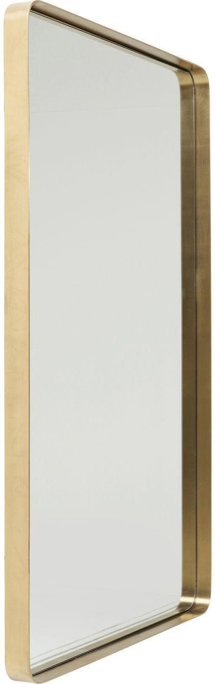 spiegel curve rechthoek messing 120 x 80 cm kare design. Black Bedroom Furniture Sets. Home Design Ideas