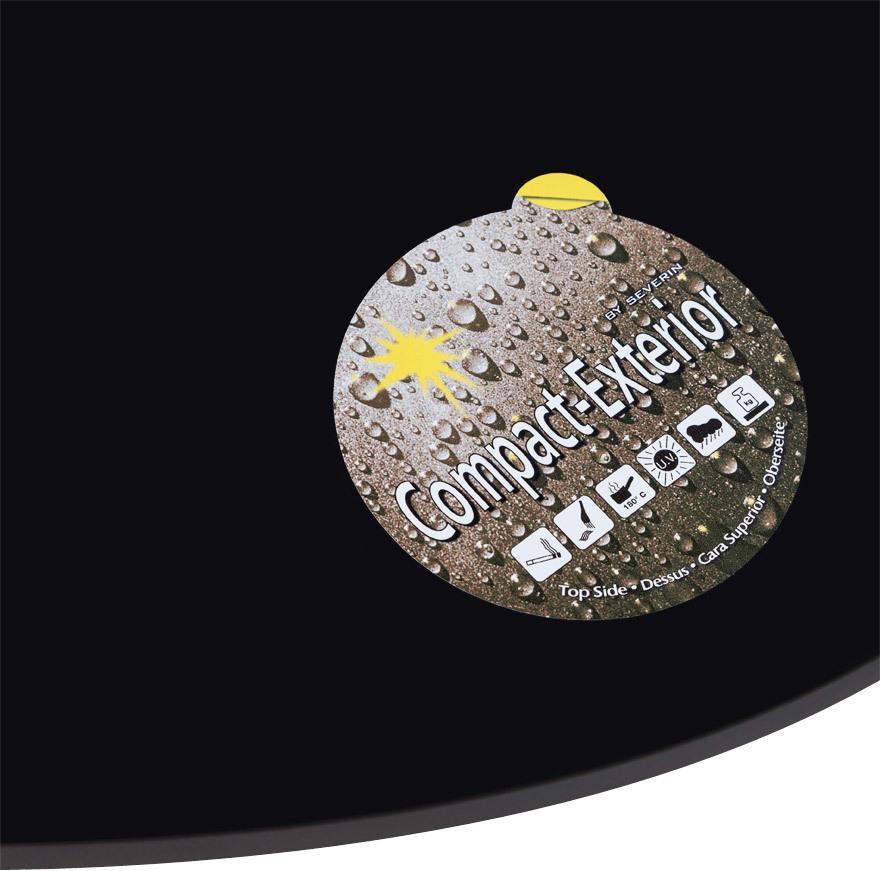 Tischplatte optimistic schwarz r 60 cm kokoon for Design tischplatten