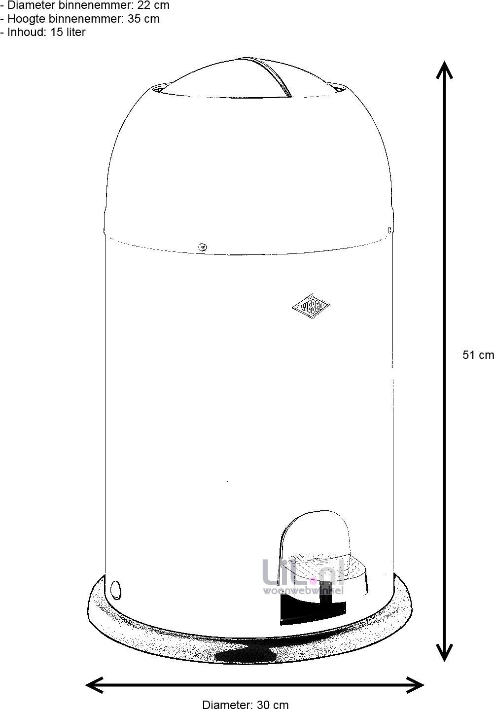 prullenbak kickmaster junior 12 liter roze wesco. Black Bedroom Furniture Sets. Home Design Ideas