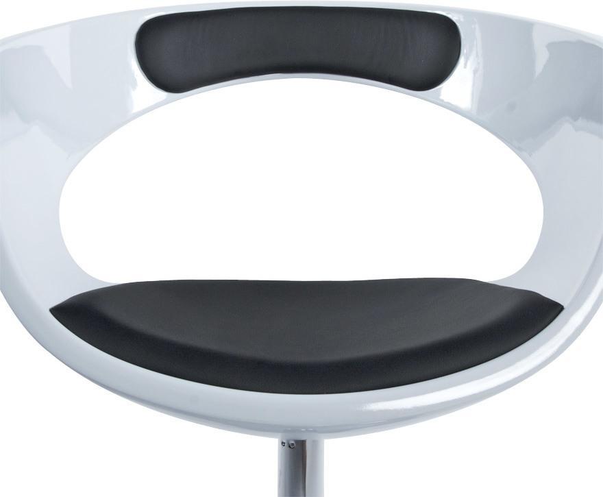 Stoel kirk wit zwart kunststof en kunstleer kokoon design for Design stoel wit