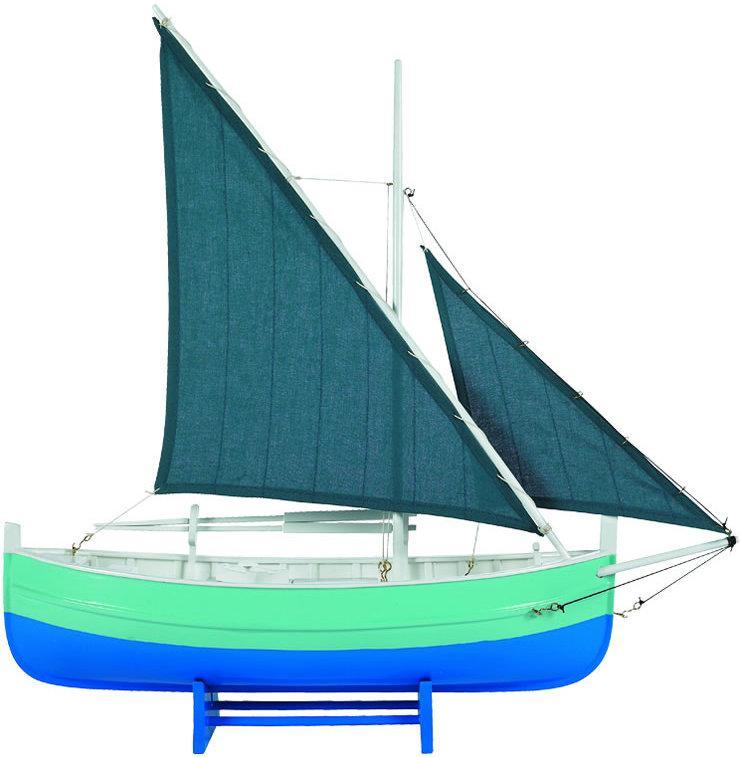 Miniatuur zeilboot biscay blauw as087 authentic models for Decoratie zeilboot