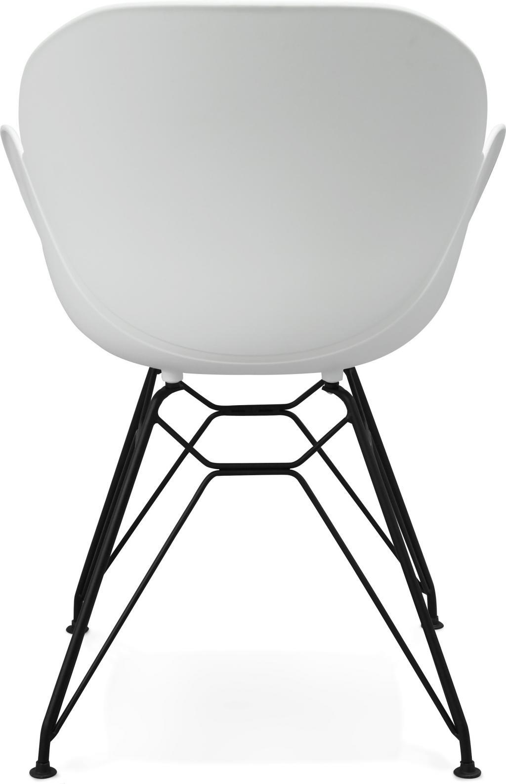Stoel umela wit kunststof metaal kokoon design for Design stoel wit
