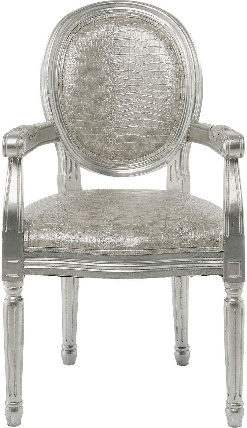 Stuhl mit armlehne louis kroko antik kare design kaufen for Kare design stuhl louis